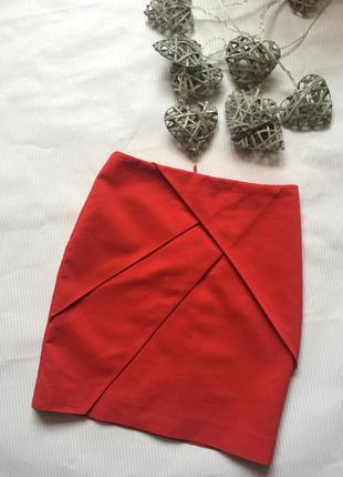 Шикарная красная юбкаh&m