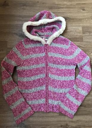 Тёплая кофта свитер на змейке