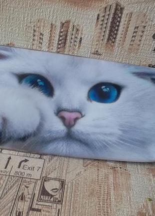 Классный клатч-косметичка с котиком, новый