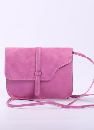 Яркая необычная сумочка цвета фуксия -сезонная распродажа