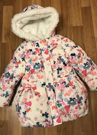 Невероятно красивая демисезонная куртка курточка на девочку 4-5 лет