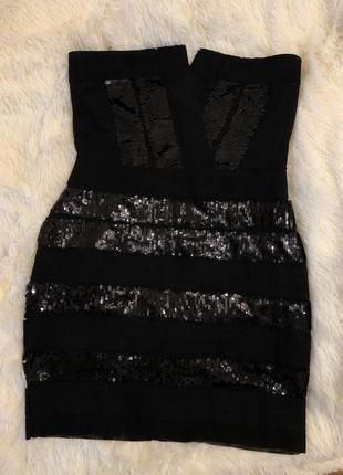 Шикарное вечернее платье в пайетки lipsy london