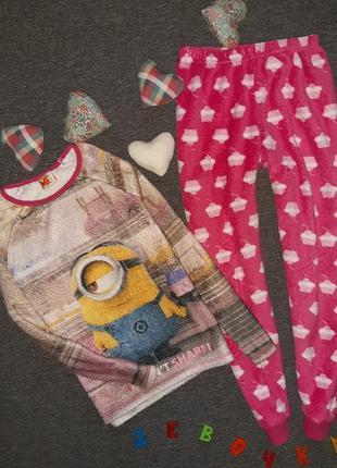 Пижама плюшевая 9-10 лет, рост 140 см
