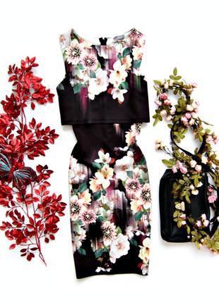 Облегающее платье в цветочек