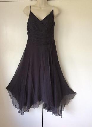 Monsoon роскошное нарядное шелковое платье, р.14-42, наш 48
