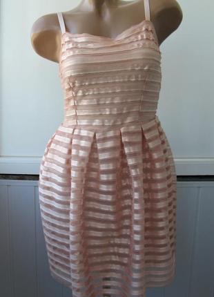 Платье с пышной юбкой, бочонок, сетка фатин, перламутровое, жемчужное