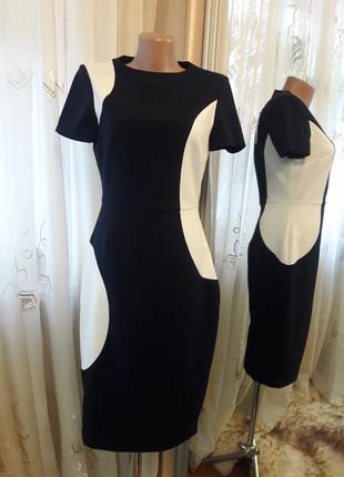 Большой выбор платьев. платье миди футляр комбинированной расцветки