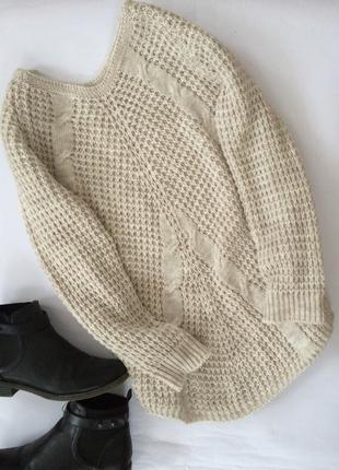 Крутой актуальный вязаный свитер джемпер оверсайз в стиле zara очень мягкий теплый