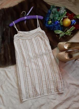 Красивое платье свободного кроя с вышивкой