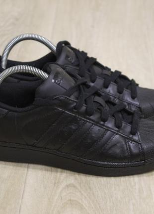 Женские кроссовки adidas superstar кожа