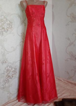 Красивое вечернее платье / сетка/ с открытой спиной