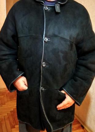 Дубленка зимняя, очень теплая (t-28с), овчина,original shearling(italy),52-54