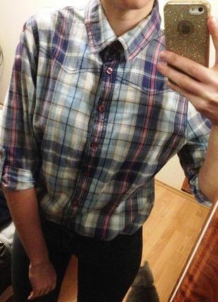 Легкая рубашка в клетку  f&f