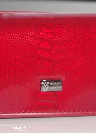 Ключница wanlima кожаная с зеркалом 2330792 красная