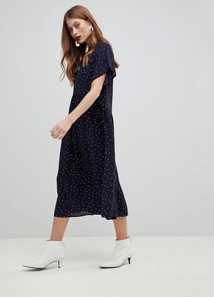 Свободное платье в горошек y.a.s, р-р s