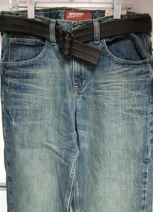 Джинсы arizona jeans  потертые подростковые с ремнем