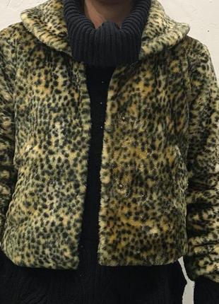 Ультрамодная леопардовая шубка
