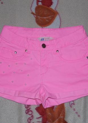 Яркие неоново розовые шорты