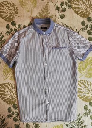 Фирменная рубашка в полоску f&f