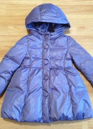 Куртка-пуховик benetton для девочки,1,5-3 года,качество!
