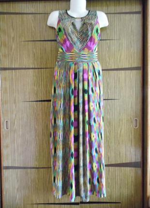 Платье «в пол» лето, новый donna ricco размер 12 – идет на 46-48.