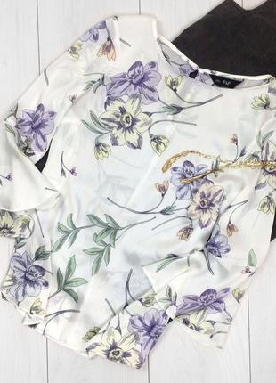 Блуза белая в цветочный принт f&f