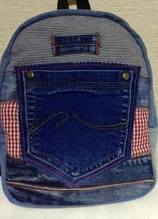 Рюкзак джинсовый