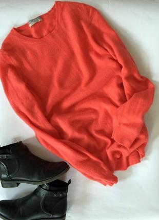 Крутой актуальный кашемировый свитер джемпер marks&spenser оверсайз очень теплый мягкий