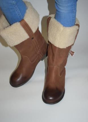 Зимние сапоги bottines marron