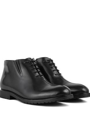 3236 мужские ботинки sasha fabiani,кожаные,на толстой подошве,на низком ходу,на каблуке