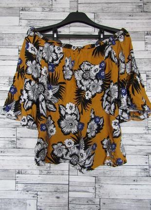 Натуральная блуза с открытыми плечами papaya
