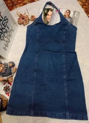 Стильный джинсовый сарафан с открытой спиной dorothy perkins