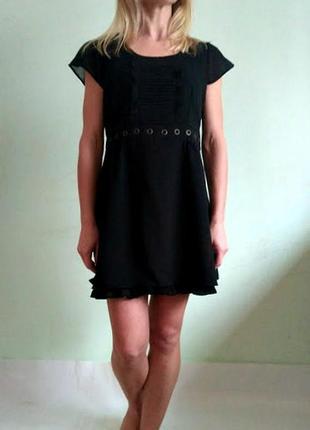 Базовое черное платье с подкладкой