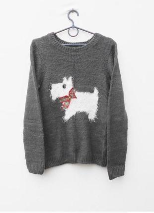 Осенний зимний вязаный свитер с длинным рукавом