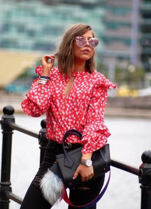 🌿 прелестная блузочка с флористическим принтом и оборками от boohoo