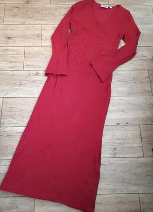 Шерстяное платье длинное трикотажное теплое нарядное подойдет для новогодней фотосессии