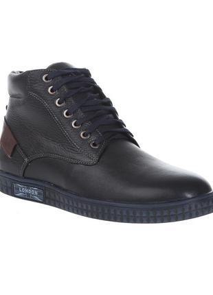 3078 мужские ботинки zlett,кожаные,на толстой подошве,на низком ходу,на шнурках