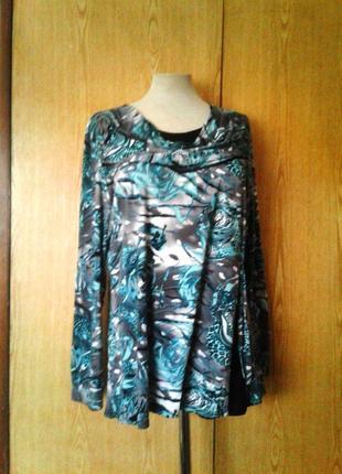 Вискозная блузка с хомутом, 2xl-3xl.