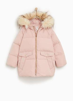 Zara пуховик 152 куртка парка для девочки