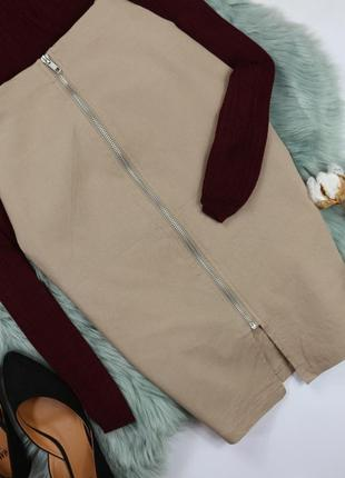 Классическая юбка миди на молнии