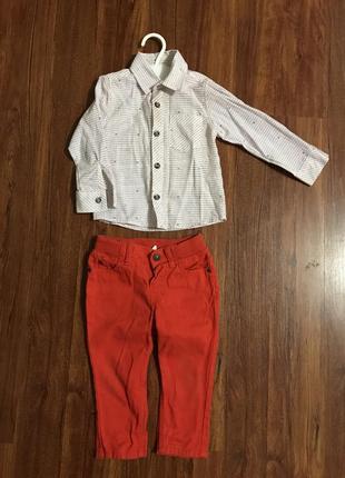 Костюм рубашка штаны и футболка2