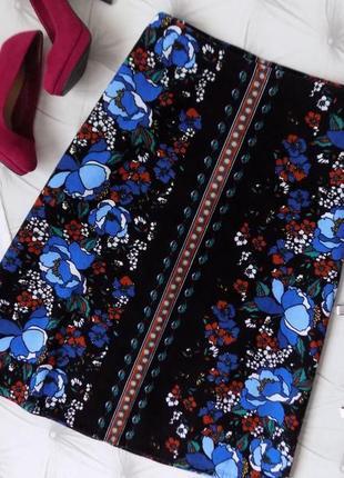18 р-ра шикарная вельветовая юбка