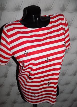 Красивая фактурная блуза, топ ровного кроя