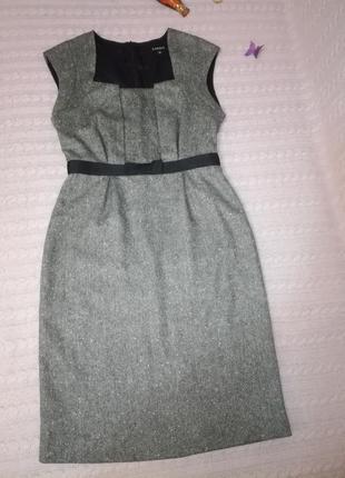 Красивое теплое шерстяное платье сарафан под гольф caroll, р.36 (s)