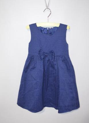 Платье с бантом миди 2-3 года