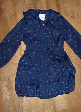 Куртка, ветровка, плащ, marks&spencer на 7-8 лет на подкладке, без утепления