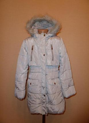 Куртка, пальто tu на 9-10 лет подкладка-мех-это силикон