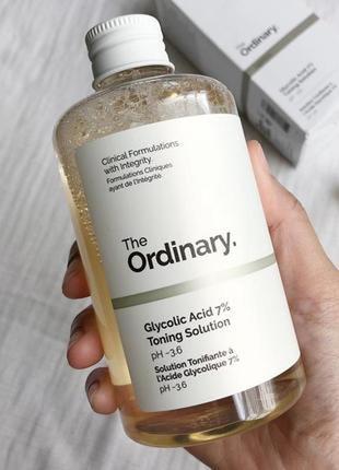 Гликолевый тоник the ordinary glycolic acid 7% toning solution 240мл