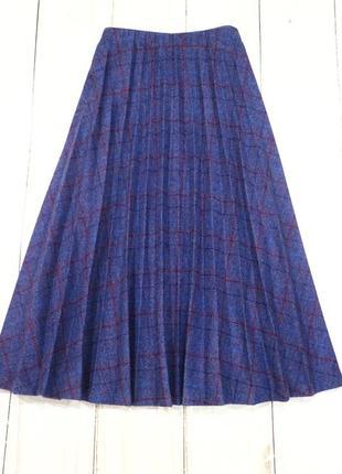 Тёплая плиссированная юбка в клетку, xxl-xxxl (наш 52-54)