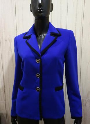 Прямой пиджак, цвет синий/электрик, m-l
